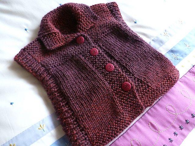 Ravelry: sofiecat's Girl's sleeveless vest
