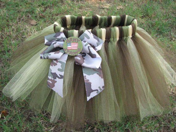 Girl's Army Camoflauge TuTu by lilsydneybug on Etsy, $20.00