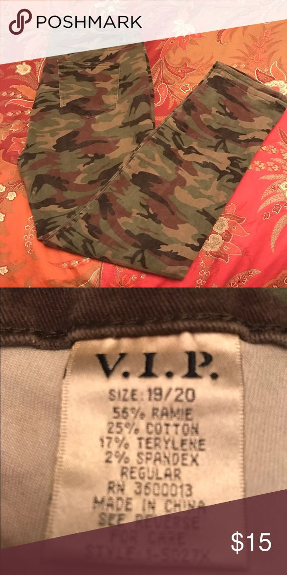 NWOT Camo Skinny Jeans NWOT never worn camouflage skinny jeans in size 18/20. VIP Jeans Skinny