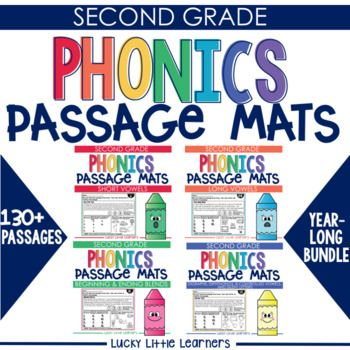 Phonics mats with reading passages are designed with a focus on individual phonics patterns. They are a NO PREP, PRINT & GO, perfect option for 2nd grade students who need a practical and applicable way to practice their phonics skills within a passage and in an isolated structure.