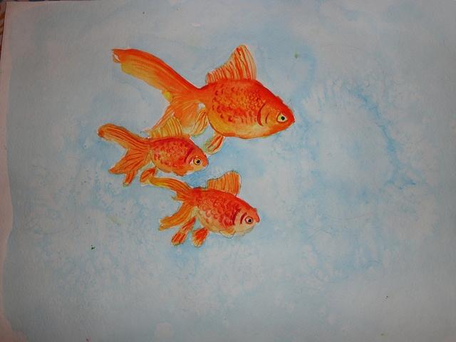 Goldfish in watercolour