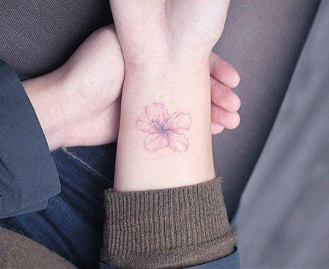 Cherry Blossom on Wrist by Mini Lau