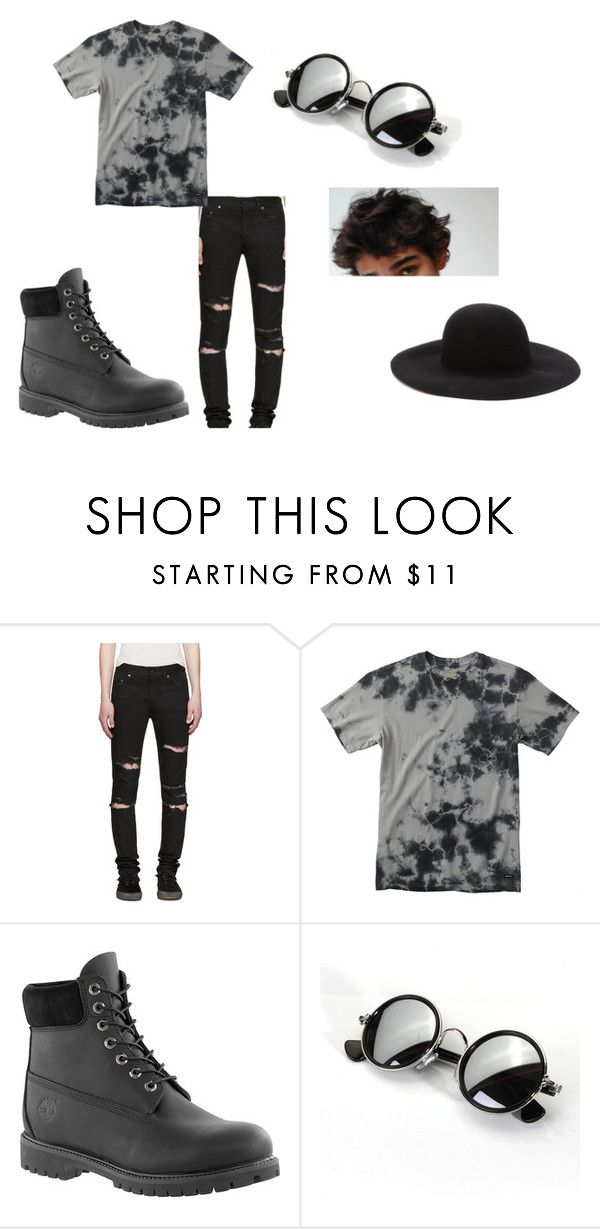 """Cute Outfits (:"" by harleydragon on Polyvore featuring Yves Saint Laurent, RVCA, Timberland, Forever 21, men's fashion and menswear"