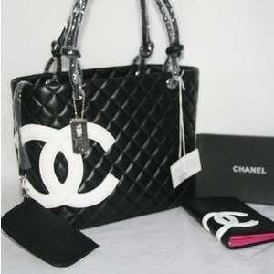 Chanel Cambon Large tote Black/White CC [9005-black-white] - $180.00 : Armcandybag-Designer Handbags, Chanel Handbags,Prada hand
