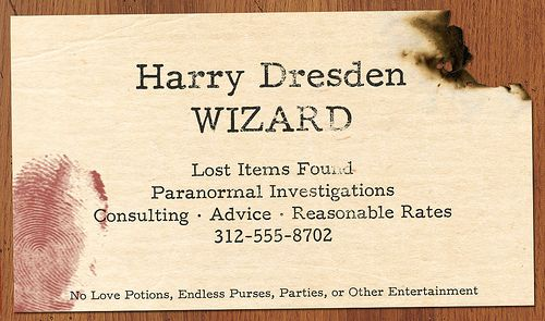 Harry Dresden's business card