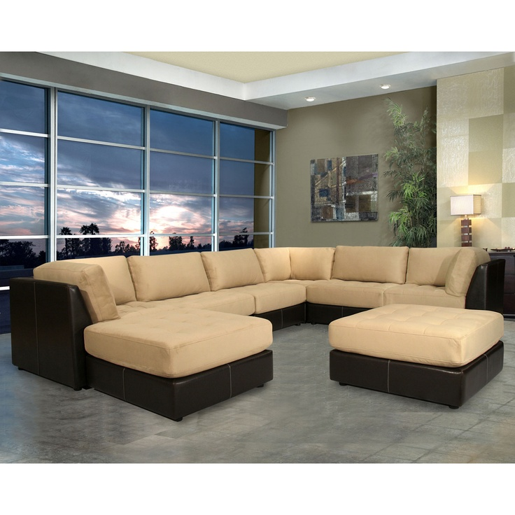 Quantum 7 Piece Modular Sectional Sofa - modern - sectional sofas - by Wayfair  sc 1 st  Pinterest : 7 piece modular sectional sofa - Sectionals, Sofas & Couches