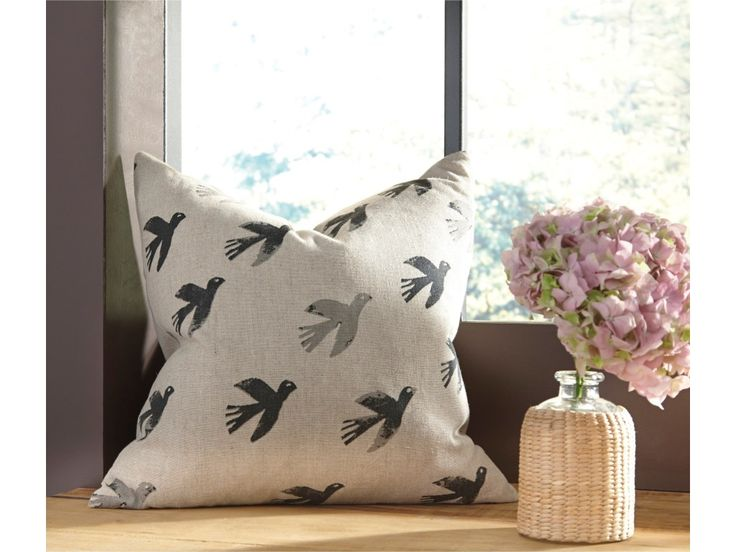 Pillows Draven Gray/Natural Pillow Cover  Pillow Cover. Bird Design in Natural and Gray. Cotton/Linen Blend Front with Cotton Back. Zipper Closure. Feather Insert Sold Separately (Item #A1000268). Machine Washable.  The Pillows Draven Gray/Natural Pillow Cover by Signature Design by Ashley at Furniture Superstore - NM in the Albuquerque, Los Ranchos De Albuquerque, Rio Rancho, Santa Fe, Corrales, NM area.