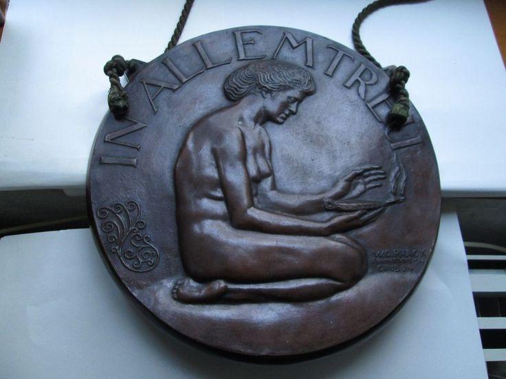 GROSSE BRONZE WAND-PLAKETTE VON WILHELM OSKAR PRACK MELSUNGEN-FRANKFURT OPUS 24 | Antiquitäten & Kunst, Metallobjekte, Bronze | eBay!