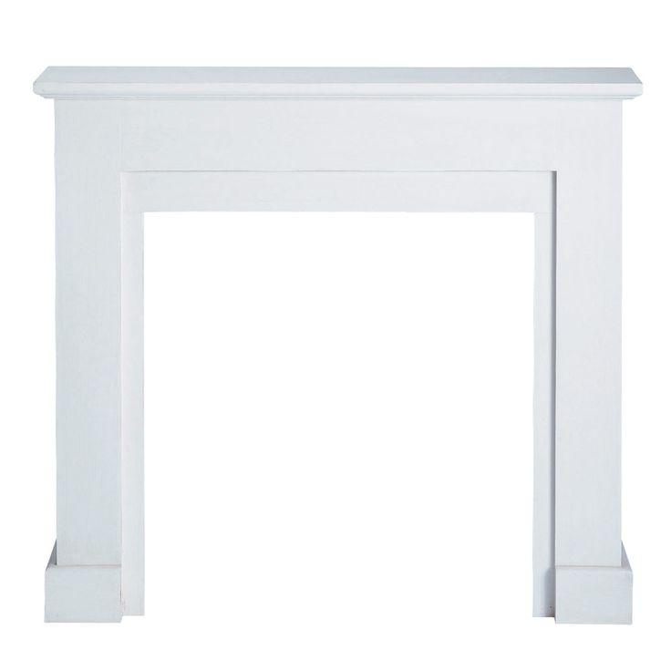 Manteau de cheminée décoratif blanc Freeport