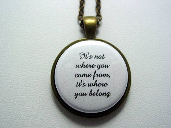 Inspiring Quote from The Fosters It's Not Where by JJsCollections, $15.95