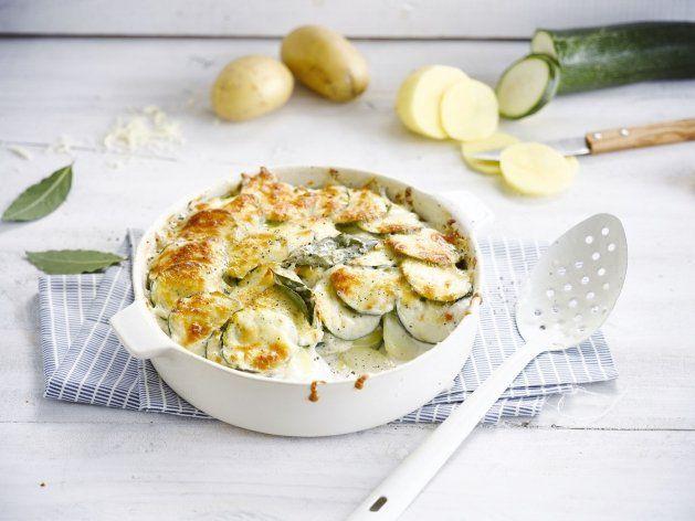 Gratin de pommes de terre et courgettes Weight watchers, une recette facile et simple de gratin léger à réaliser pour un déjeuner ou un repas de soir.