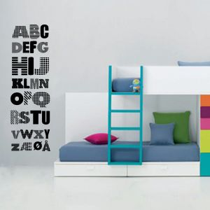 Wallsticker Alfabet
