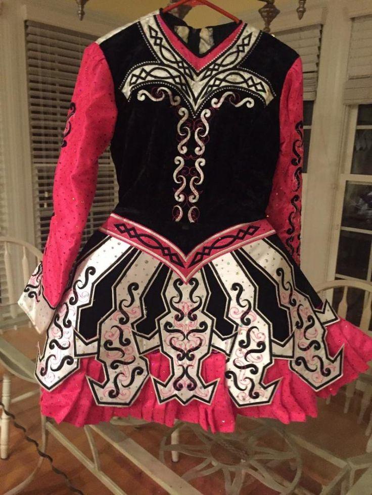 Eye Catching Pink Paul Keith Irish Dance Dress Solo Costume For Sale