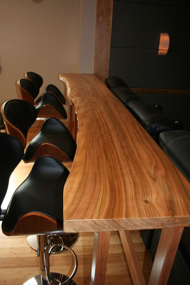 Natural edge dining table w steel hairpin legs from impact imports of - Twin Live Edge Bar Tables By Jeff Mackay
