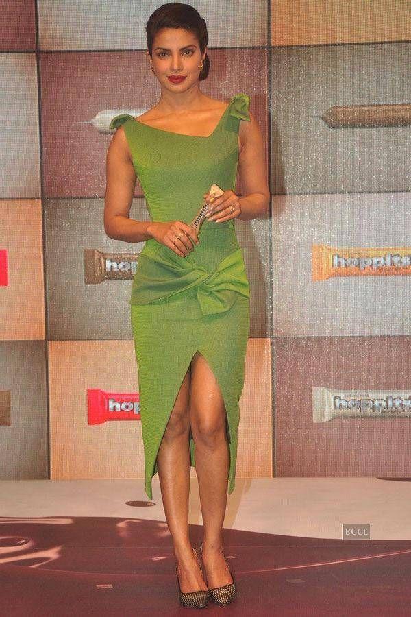 Priyanka Chopra at the launch of Rajhans Nutriments Hoppit chocolate, in Mumbai. #Bollywood #Fashion #Style #Beauty