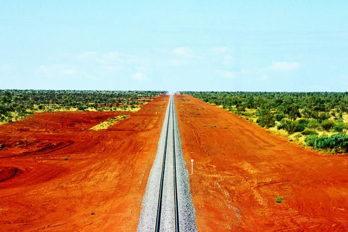 Alice Springs to Darwin railway line, Australia