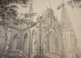 Cele mai bune 25 de idei despre Gothic architecture drawing pe