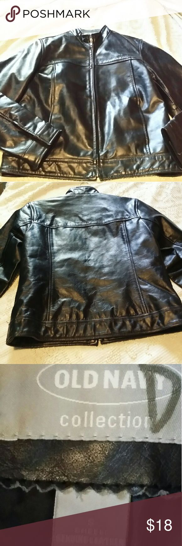 Women's leather jacket....this coat was never worn Sexy, fitted leather coat. Old Navy Jackets & Coats
