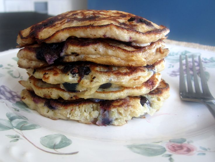 Healthy and filling lemon blueberry quinoa pancakes! These do not disappoint.