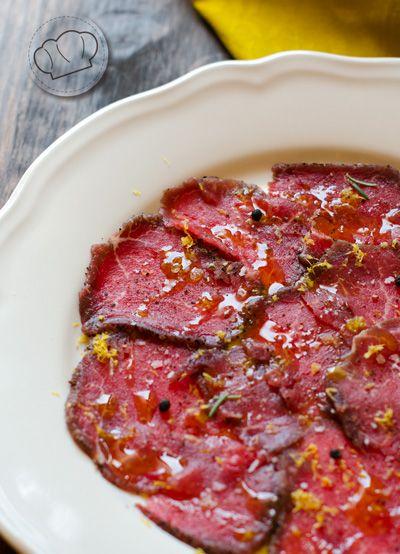 receta de carpaccio de ternera fácil. Beef Carpaccio Recipe