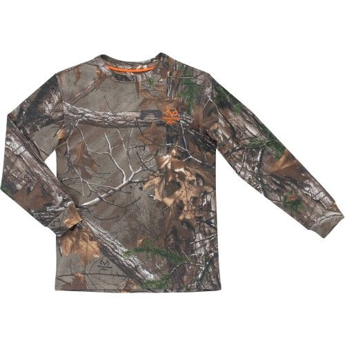 Realtree Camo - Boys Long Sleeved Camo Tee Shirt