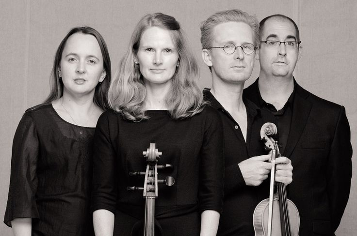 Marketing and promotional portrait for a classical music string quartet. Studio Photography by Kent Johnson.