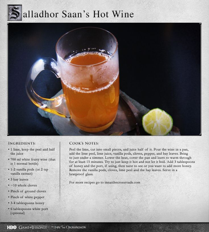 """A must try for those who like hot wine!"" Game of Thrones Hot Wine"