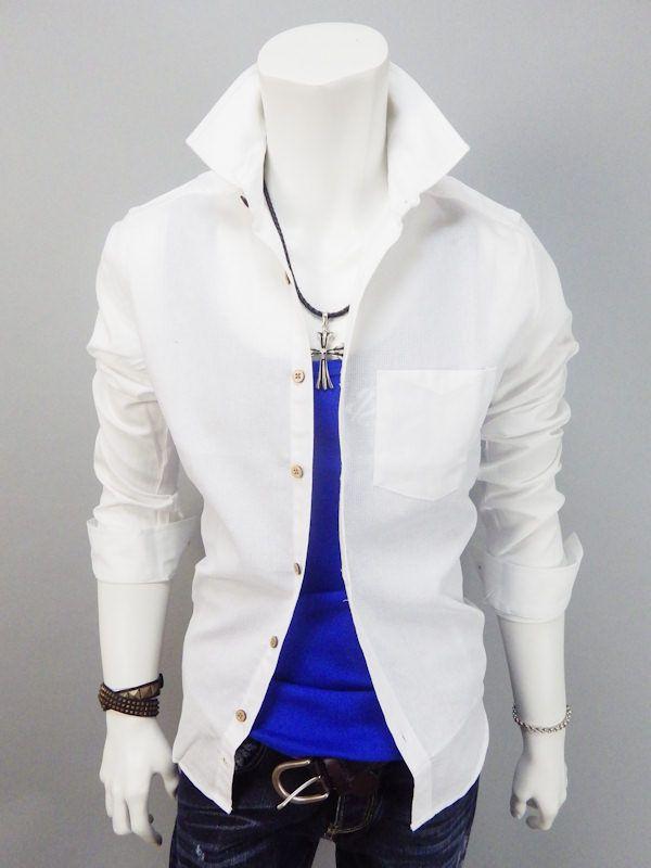 アフォーダブル | パナマ織りコットンシャツホワイト
