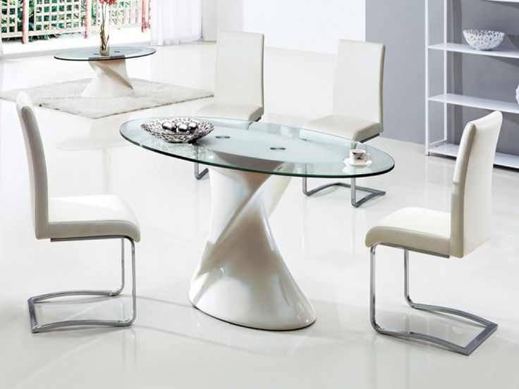 Dining Room Stunning Oval Gl Table For