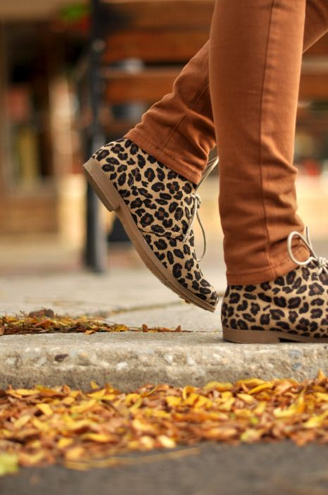 y e s: Leopard Print, Fall Style, Leopards Shoes, Cheetahs Shoes, Burnt Orange, Oxfords, Leopards Prints, Animal Prints, Cheetahs Prints