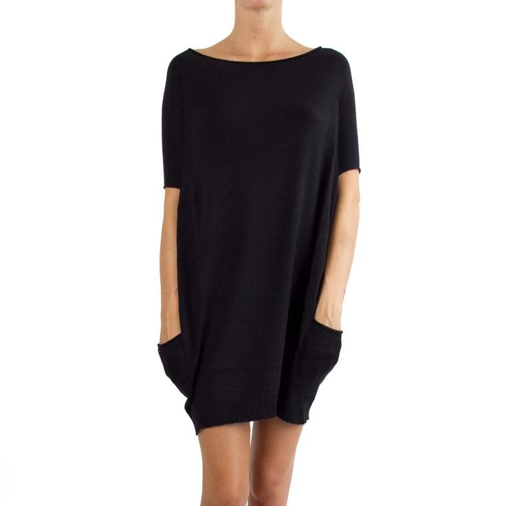 Es Givien black short sleeves dress | RAILSO.COM