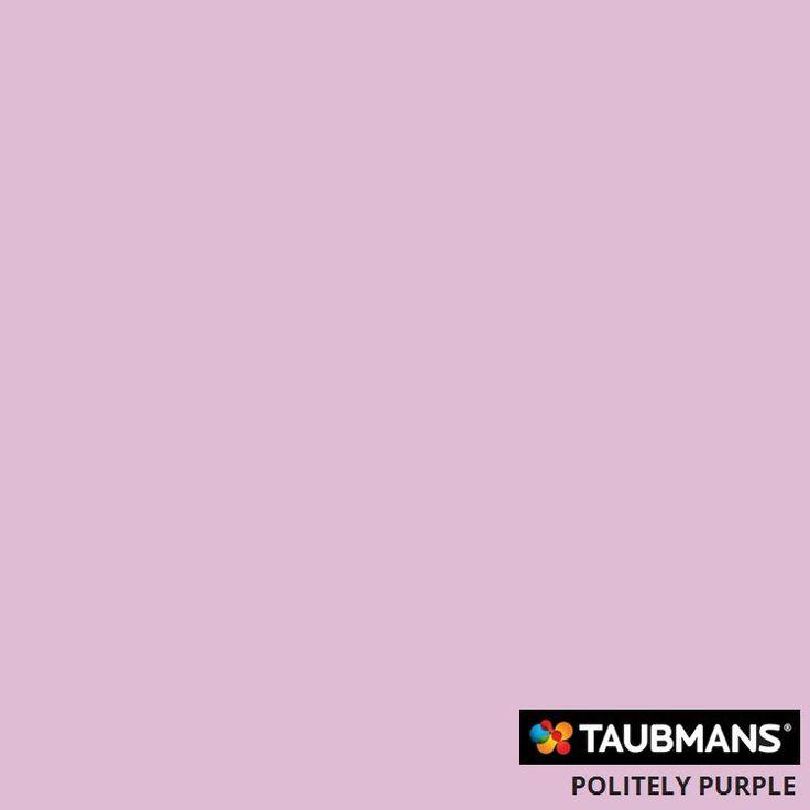 #Taubmanscolour #politelypurple