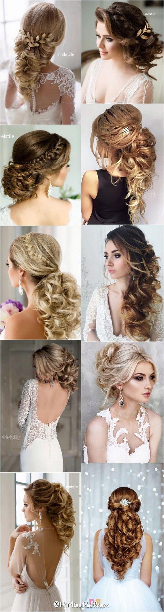 Peinados de novia de la boda para el pelo largo que inspirará