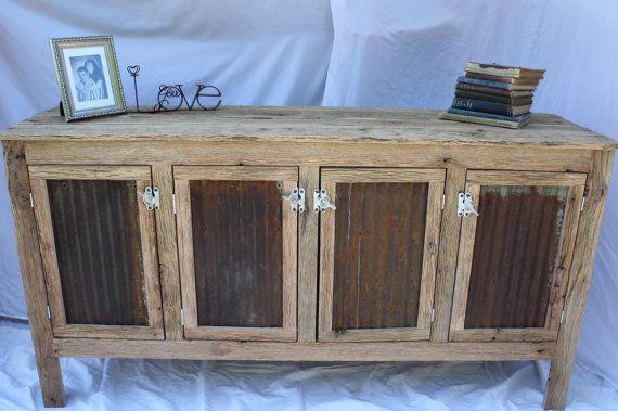 Aarons Custom Rustic Barn Wood Credenza Or Sideboard