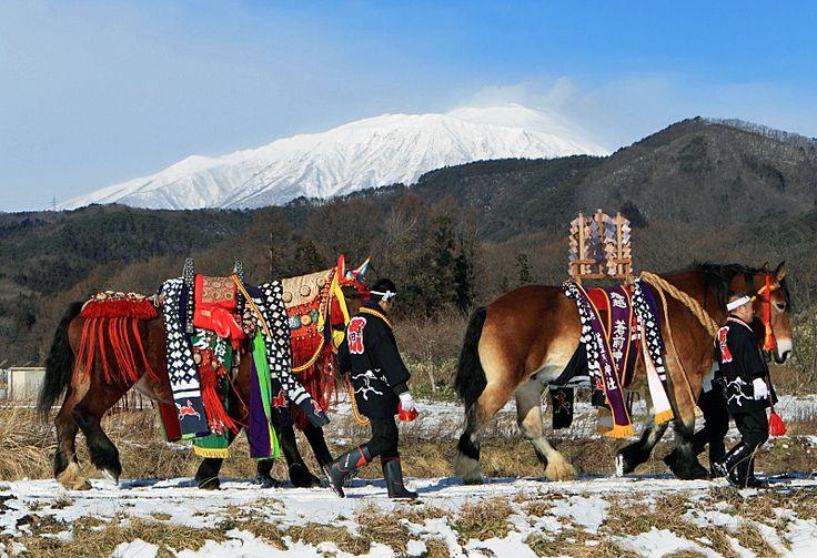 Chagu-chagu Umako new year praying #1 - Morioka, Iwate, Japan