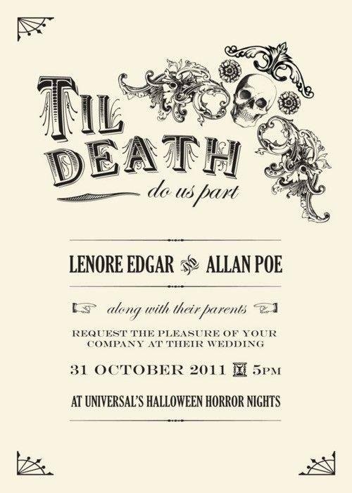 25 cute Halloween wedding invitations ideas – Halloween Wedding Reception Invitations