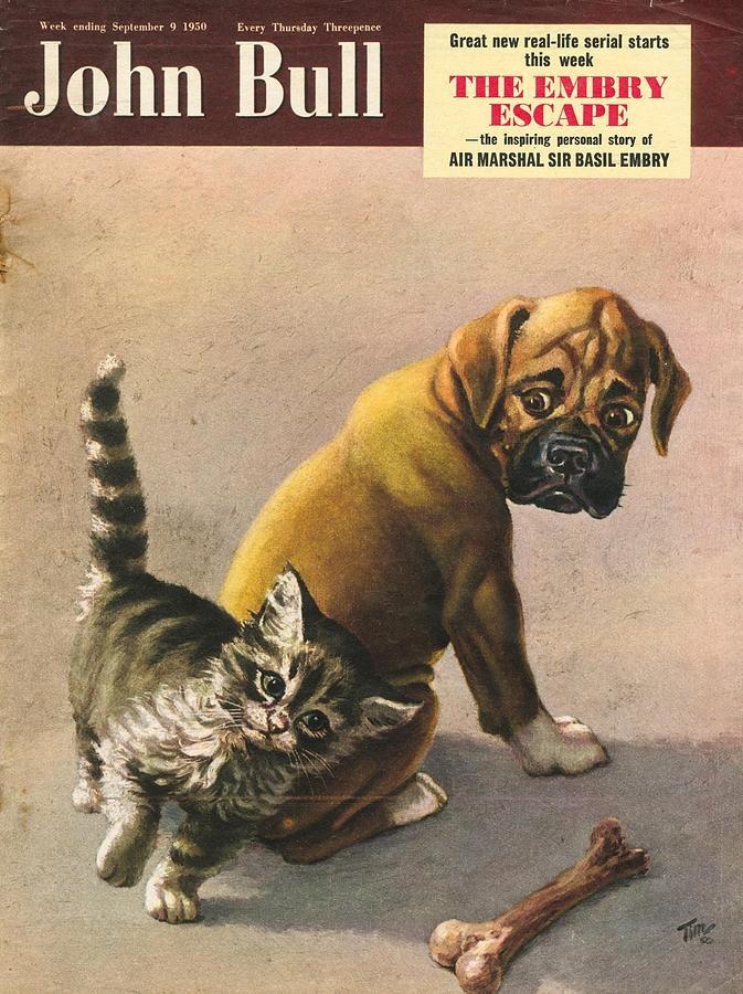"""""""John Bull"""" vintage UK magazine - September 9, 1950 issue cover"""