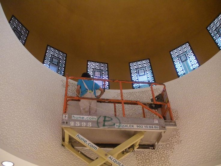 Palacio de Congresos Oran cupula oro dorado pan de oro decoracion mudejar arabe