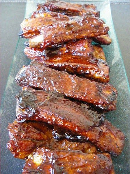Tasteometer Recipe - Sticky Whiskey BBQ Ribs.  So addictive you won't want to share these!