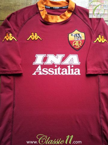Relive AS Roma's 2000/2001 season with this vintage Kappa home football shirt.
