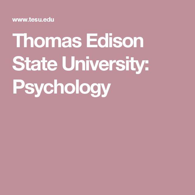 Thomas Edison State University: Psychology