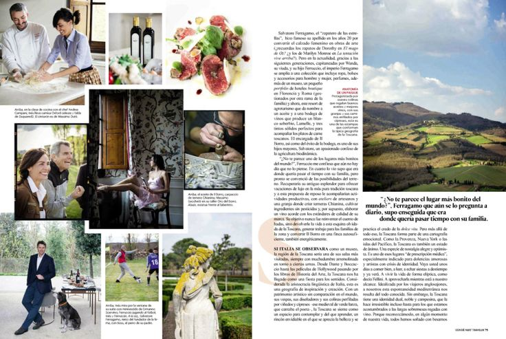 Ines Sastre and Il Borro protagonist in Condè Nast Traveler Spain