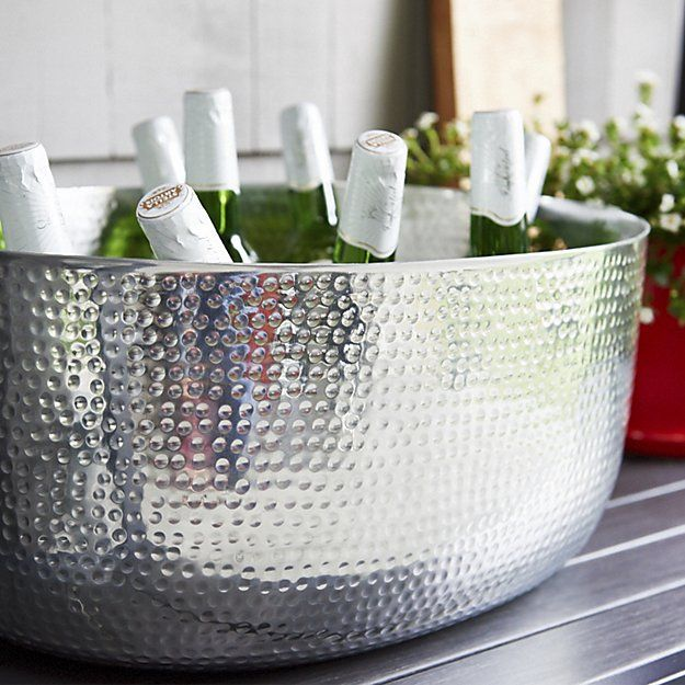 Bash Silver Beverage Tub | Crate and Barrel