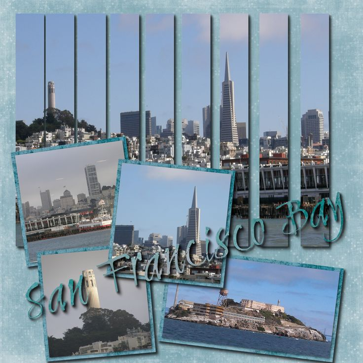 #papercraft #scrapbook #layout    San Francisco Bay - Scrapbook.com