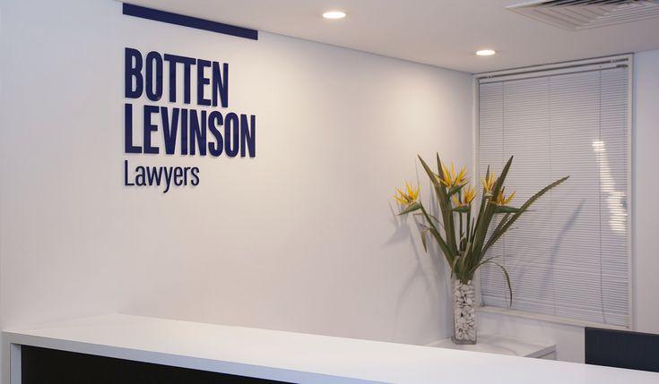 Botten Levinson Lawyers Internal Signage