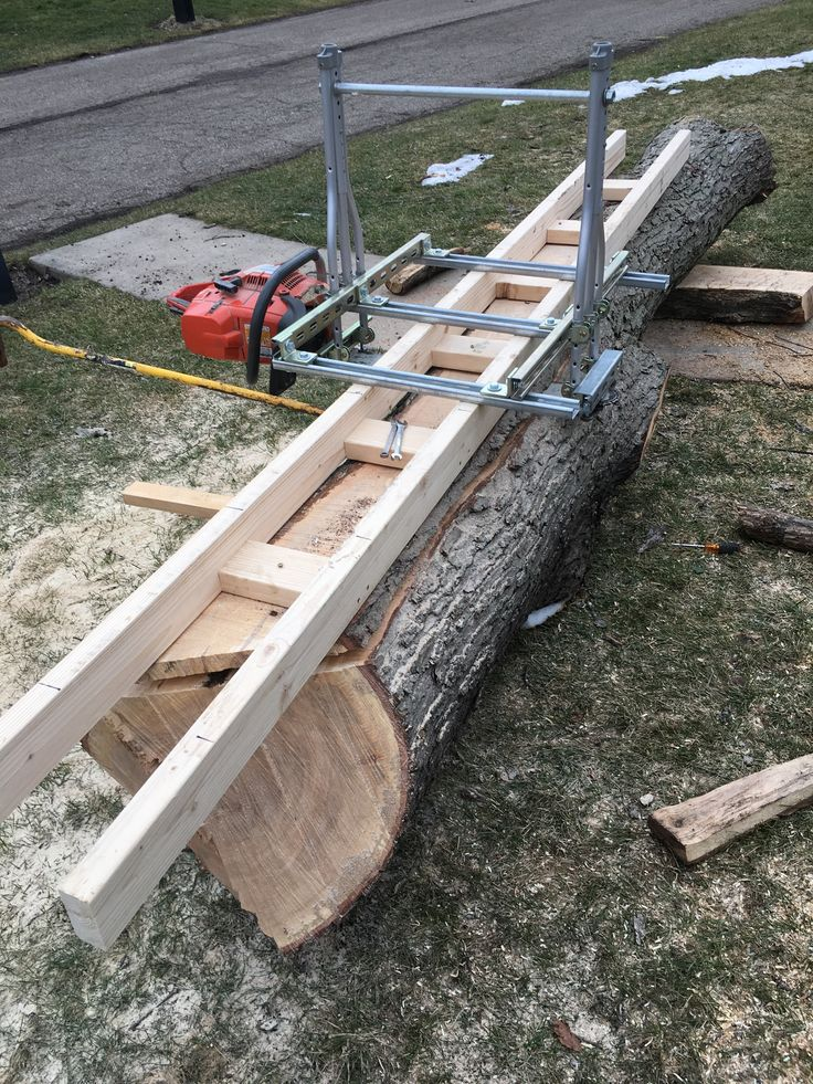 Chain saw mill from up cycled crutches and unistrut