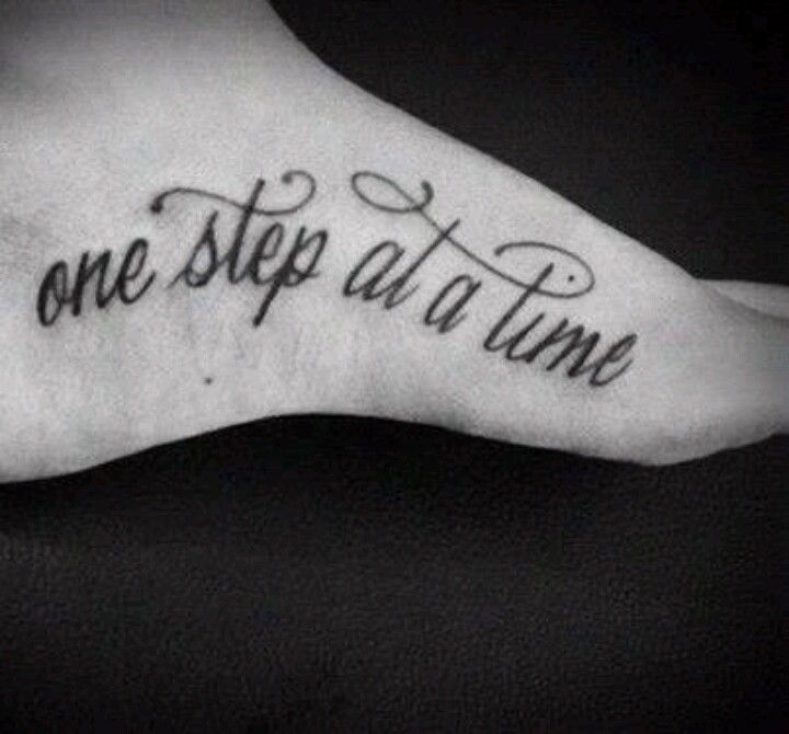 Love the quote for this foot tattoo, just not the placement..