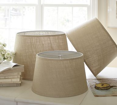 ...for The Tree Lamp? Natural Weave Tapered Drum Lamp Shade #potterybarn