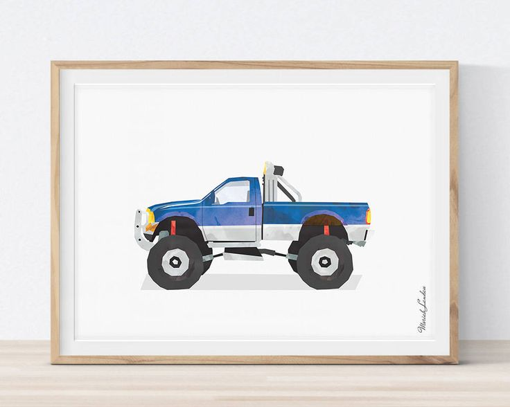 Ford 4x4 Print, Ford 4x4 Wall Art, Transportation Wall Decor, Car Print, Watercolor Decor, Toddlers Room Decor, Boys Room Decor, Printable #ford #4x4 #car #print #printable #big #boy #bedroom #boys #ideas #decor #wall #art #toddler #DIY #for #kids #children #etsy #twin #blue #watercolor #playrooms #nursery #themes #transportation #vehicle #poster #teenager #gift #father #bithday By MORILAND Wall Art