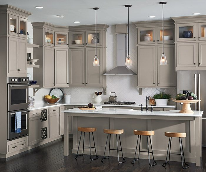 Impressive Ideas Kitchen Paint Colors With Maple Cabinets: Find Warmth And Depth In A Stone Gray Finish On Purestyle